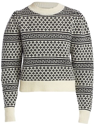 Etoile Isabel Marant Newton Long Wool Puff-Sleeve Sweater