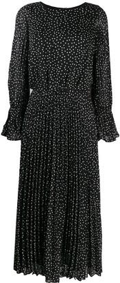 Emporio Armani Polka-Dot Fil Coupe Dress