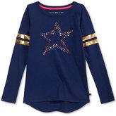 Tommy Hilfiger Studded Graphic Long-Sleeve T-Shirt, Big Girls (7-16)