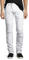 PRPS Marvel Windsor Distressed Stretch-Denim Moto Skinny Jeans
