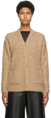 AURALEE Beige Alpaca Wool Big Cardigan