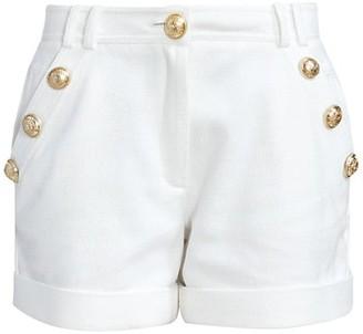 Balmain Low-Rise Cotton-Pique Shorts