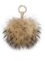 LITHER Genuine Fluffy Fox Fur Pom Pom with Keychain Bag Charm