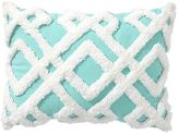 Geo Plush Pillows, 12x16, Aqua