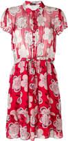 Emporio Armani ruched floral-print shirt dress