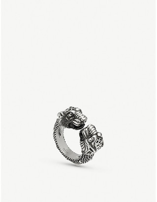 Gucci Garden tiger sterling silver ring