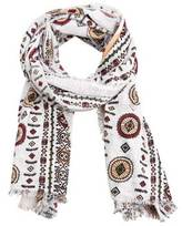 MANGO Printed cotton scarf