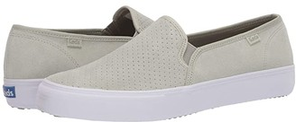 Keds Double Decker Perf Suede (Sage) Women's Slip on Shoes