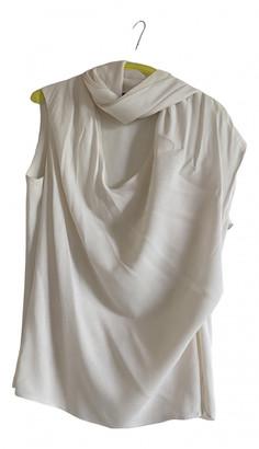 Alexander McQueen Beige Silk Tops