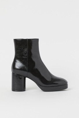 H&M Warm-lined High Profile Boots - Black