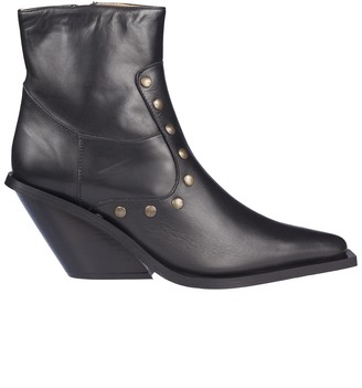 Couture Gia GIA Studded Ankle Boots
