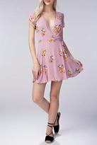 Honey Punch Floral Wrap Dress