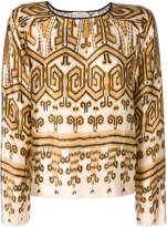 Forte Forte Ikat print silk top
