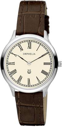 Orphelia Lavardin Women's Quartz Watch with Silver Dial Analogue Display and Brown Leather Strap 11601