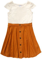 Sweet Heart Rose Sweetheart Rose Girls 2-6x Short Sleeve Suede Dress