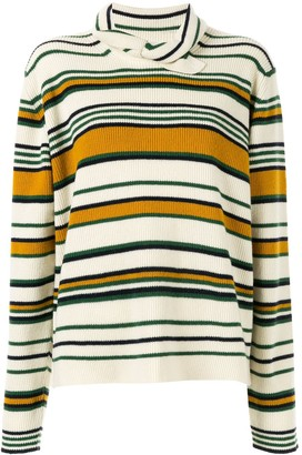 J.W.Anderson Striped High Neck Sweater