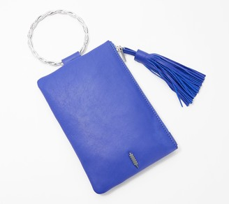 THACKER Leather Clutch with Twisted Ring Handle - Nolita