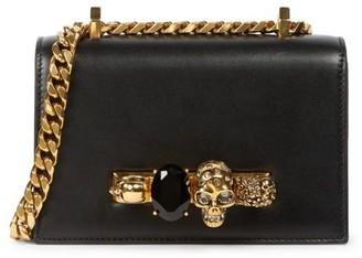 Alexander McQueen Mini Skull Jewelled Leather Satchel