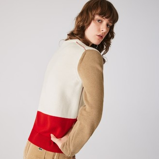 Lacoste Women's Made in France Crew Neck Colourblock Wool Sweater