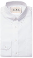 Thomas Pink Classic Fit Solid Oxford Button-Down Traveler Dress Shirt