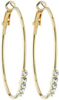 Fragments for Neiman Marcus Crystal Hoop Earrings,Clear