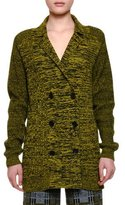 Bottega Veneta Notch-Collar Double-Breasted Cashmere Jacket, Black Ancient Gold