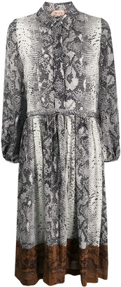No.21 Snake Print Shirt Dress