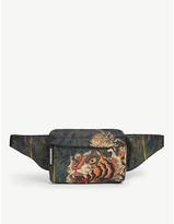 DSQUARED2 Acc Tiger-print woven belt bag