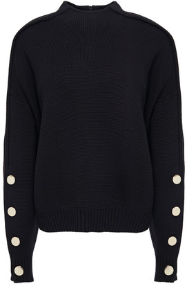 BA&SH Button-embellished Wool And Cotton-blend Sweater