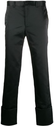 Comme des Garcons Satin Turn-Up Trousers