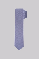 Moss Bros Premium Navy and White Puppytooth Silk Skinny Tie