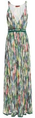 Missoni Crochet-trimmed Printed Silk-georgette Maxi Dress