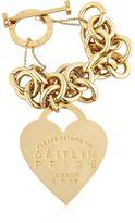 Maria Francesca Pepe Caitlin Price Heart & Chain Bracelet