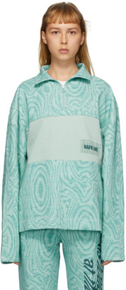 Martine Rose Green B-Holywell Half-Zip Pullover