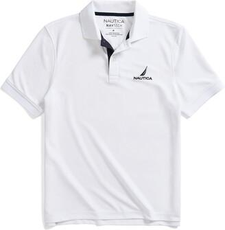 Nautica Men's Navtech Stripe Collar Polo