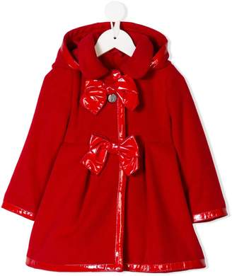 Lapin House hooded bow-detail coat