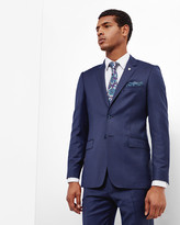 Ted Baker Micro Check Wool Jacket Blue