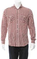 Michael Bastian Shawl Collar Plaid Shirt