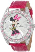 Disney Women's Minnie Mouse Sunray Dial Lizard Watch MN1010