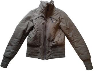 Nike Khaki Leather Jacket for Women