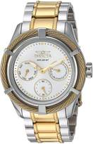 Invicta Women's 'Bolt' Quartz Stainless Steel Casual Watch, Color:Two Tone (Model: 24455)
