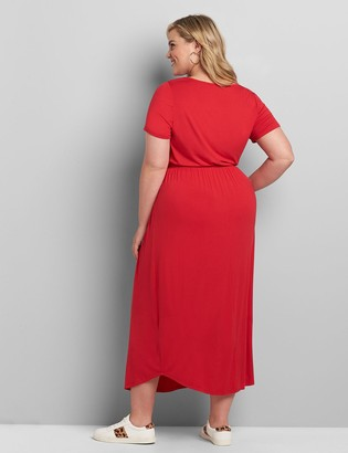 Lane Bryant Curved-Hem Maxi Dress