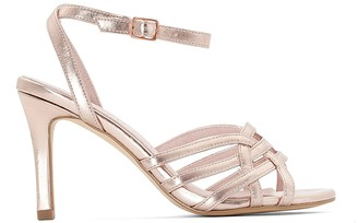 La Redoute Collections Metallic Cage Sandals