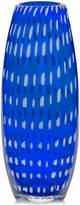 "Mikasa Artisan Series 13.5"" Cobalt Confetti Vase"