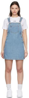 MSGM Blue Overall Dress