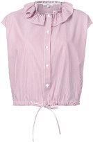 Atlantique Ascoli ruffle collar blouse - women - Cotton - 0