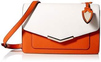 MONICA Time's Arrow Lily Crossbody Bag Socialite White/Santa Sunset Leather Handbag