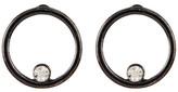 Stephan & Co Front Facing Crystal Embellished Hoop Earrings