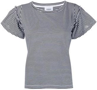 Dondup striped ruffled T-shirt