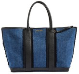 Miu Miu Madras Denim Tote - None